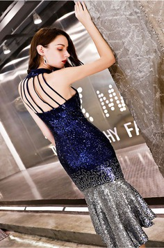 eDressit New Sexy Halter Blue-Silver Sequins Party Prom Dress (35198205)