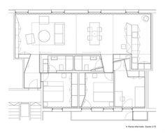 Apartment Refurbishment in Pamplona / Iñigo Beguiristain #drawings #plans #void #solid #architecture