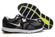 Mens Nike LunarGlide+ 3 BlackWhite Shoes #shoes