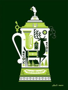 FFFFOUND! | DeerStein Screen Print Poster 18 x 24 by AlbertandMarie on Etsy #dear #vector
