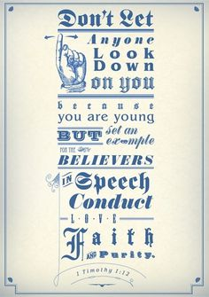 Don't Let Anyone on the Behance Network #youth #scripture #victorian #jesus #vintage #bible #type #typography