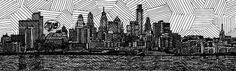 il_fullxfull.198400449.jpg (1024×312) #philadelphia #print #illustration #etsy #skyline
