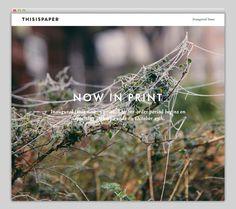 Thisispaper #website #layout #design #web