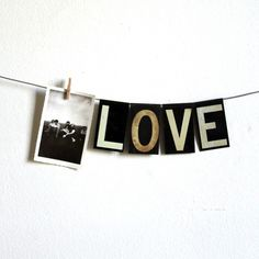 vintage medium black metal hanging letters by lacklusterco on Etsy #inspiration #photography #art #love #typography