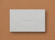 Giles Duley Stationery 1 #card #business