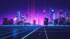 Retrowave on Behance #lights #retro #graphic #futuristic #cars #neon