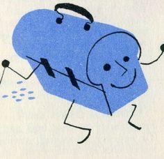 HAPPY LUNCH #mid-century #doodz #food #illustration #lunchbox