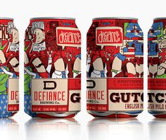 Defiance Brewery Gutch Cans