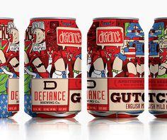 Defiance Brewery Gutch Cans