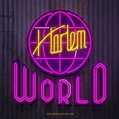 Harlem World #harlem #harlemworld #neon #sign #neonsign #retro #oldschool