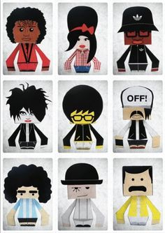 Paper Toys on the Behance Network #toys #paper #famous #people