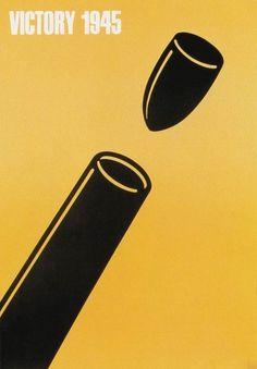 Shigeo Fukuda : Design Is History #shigeo #fukuda #yellow #poster #victory #1945