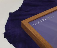 Passport Identity #frame #branding #wood #identity #leather #passport #logo #blue