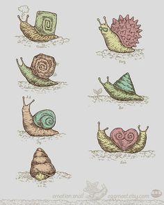 FFFFOUND! | Emotion snail by jimmytan | Flickr - Photo Sharing! #illustration #snail