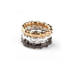 Silver Stackable Ring — SMITH/GREY Jewellery Design Studio #pattern #silver #black #gold #rings