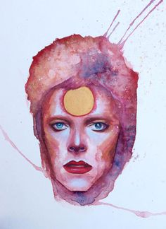 Bowie - Ziggy Stardust - Illustration - Kelly McKernan Cavanah