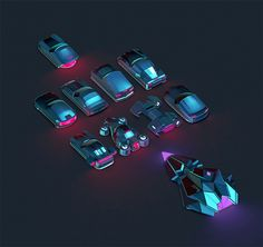 #beatracer #cars #neon #jmchoe #lowpoly #lilasoft