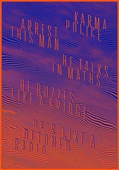 KARMA POLICE - www.michielschuurman.com #design #poster #typography