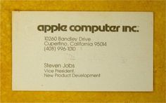 Steve Jobs' Business Card, 1979 | Retronaut #steve #apple #business #card #jobs #vintage