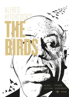 Alfred Hitchcock's The Birds Poster made by Andrei Scarlatescu