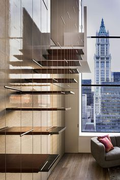 CJWHO ™ (Stunning Penthouse In TriBeca Imagine the...) #staircase #design #interiors #penthouse #york #tribeca #luxury #new