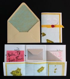 Oh So Beautiful Paper: A Paper Blog –Unique and Custom Wedding Invitation Ideas and Modern Stationery - Part 6 #wedding #print #cards #invites