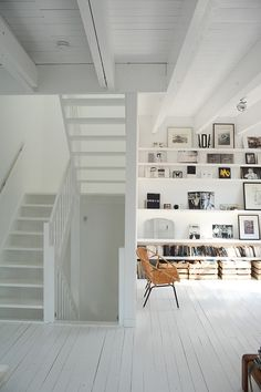 Interior - Amsterdam #interior #white #wood #minimal #shelves