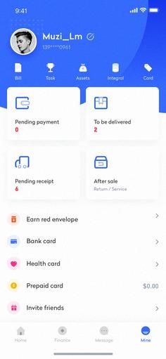 Wallet app interface design – 2