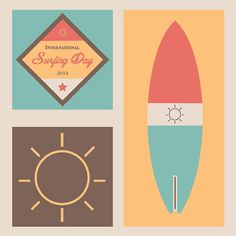 International Surfing Day Illustration #illustration #illustrator #surf