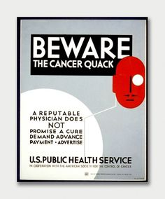 Healthcare 1936. / Aqua-Velvet #poster #retro #1930s #medical #warning