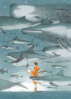 Dreamlike and Narrative Storybook Illustrations by Jin Xingye