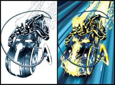 Tron Legacy and Ghost Rider artistic comics