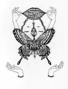 Drawings by Amy Goh I Art Sponge #abstract #pattern #goh #butterfly #amy #drawing #detail