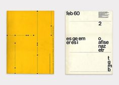 (Left) No.12 Design by Emil Ruder (Right) No.2 Design by Yves José Zimmerman #cover #design #graphic