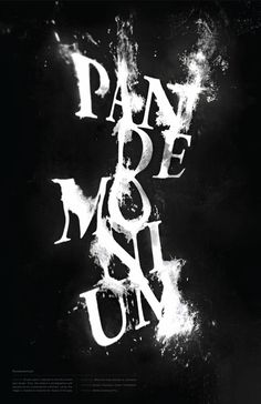 Word Experiment: Pandemonium #type #poster #ink