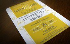 Caitlin and Cody's Wedding: Invitation :: IAN R. HANSON #design #invitation #typography