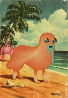 "M△rcØ Puℂℂini Pør†føliø - marco puccini ""beach postcard"" #illustration"