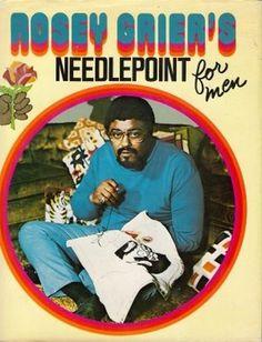 Rosey Grier's Needlepoint For Men #print #design #book #needlepoint #for #men
