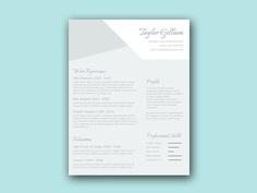 Free Elegant Resume Template with Smart Design