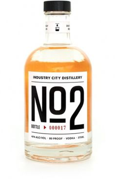Industry City Distillery #packaging #vodka #typography