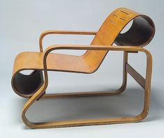 Alvar Aalto: Model No. 41 lounge chair (2000.375) | Heilbrunn Timeline of Art History | The Metropolitan Museum of Art #product #furniture #design