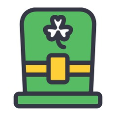 See more icon inspiration related to shamrock, clover, ireland, Irish, st patrick, cultures, Saint Patrick, accesory, celebration, fashion and hat on Flaticon.