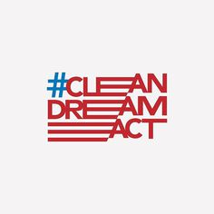 Let's defend DACA and fight for a #cleandreamact. #daca #america #thepeopleagainsttrump #dreamactnow #aclu #politics #flag #typography #customtype #avenir
