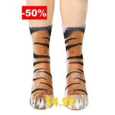 Animal #Paw #Print #Crew #Socks #- #TIGER #PRINT