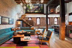 An Old Tribeca Soap Factory Converted Into a Stunning Loft Apartment | HUH. #interior #design #apartment