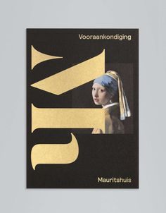 Monogram and print with metallic paper and spot colour detail designed by Dumbar for Mauritshuis