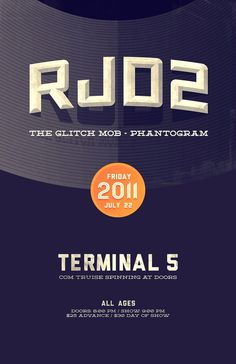 Design / RJD2 / Glitchmob / Phantogram poster I designed this summer, although never used (outtak...