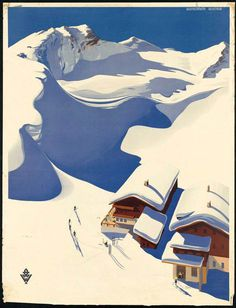 Austria #austria #travel #snow #illustration #poster