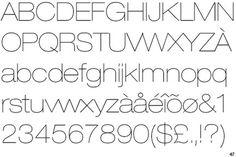 Helvetica Neue Ultra Light Extended #10