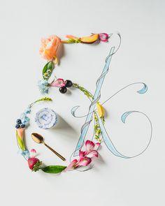 Oui, yoplait, flowers, lettering